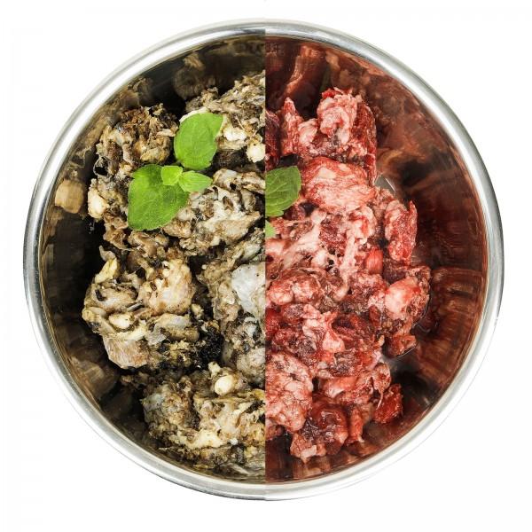 BARF Rindfleisch mit Blättermagen und Innereien