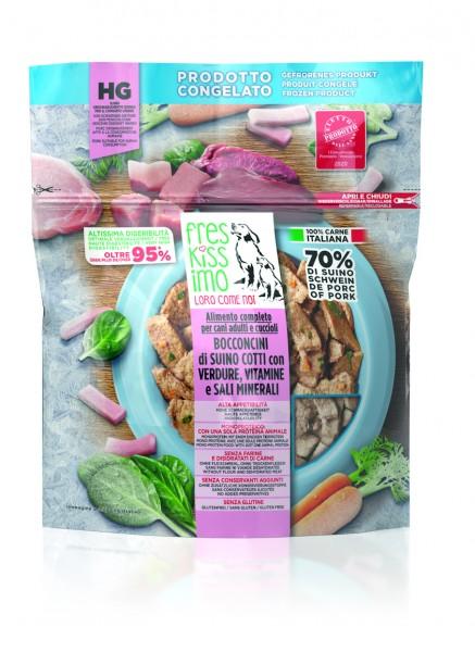 gegartes Schwein Spinat & Karotten (einzeln entnehmbar)