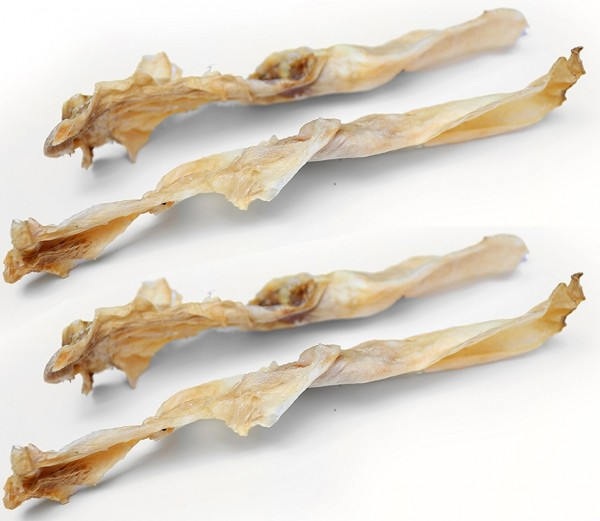 Kaninchenohren ohne Fell getrocknet (10Stk)